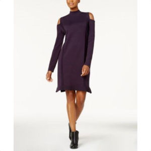 STYLE & Co Womens Cold Shoulder Sweater Dress, NwT